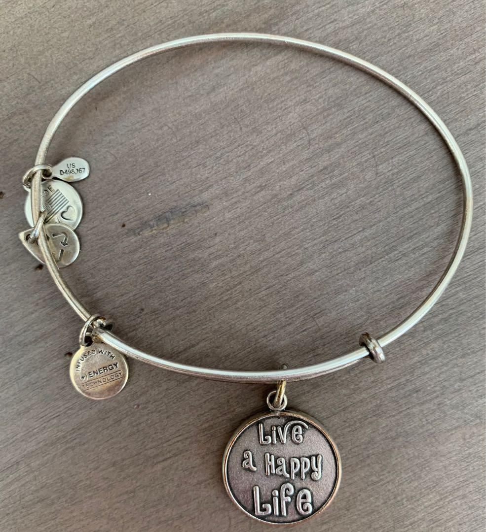 Alex and Ani Bracelet-Live a Happy Life