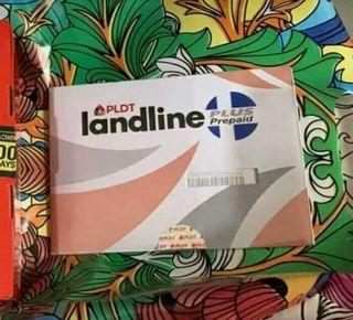 Available Pldt landline sim prepaid sim with 50Load january 2020