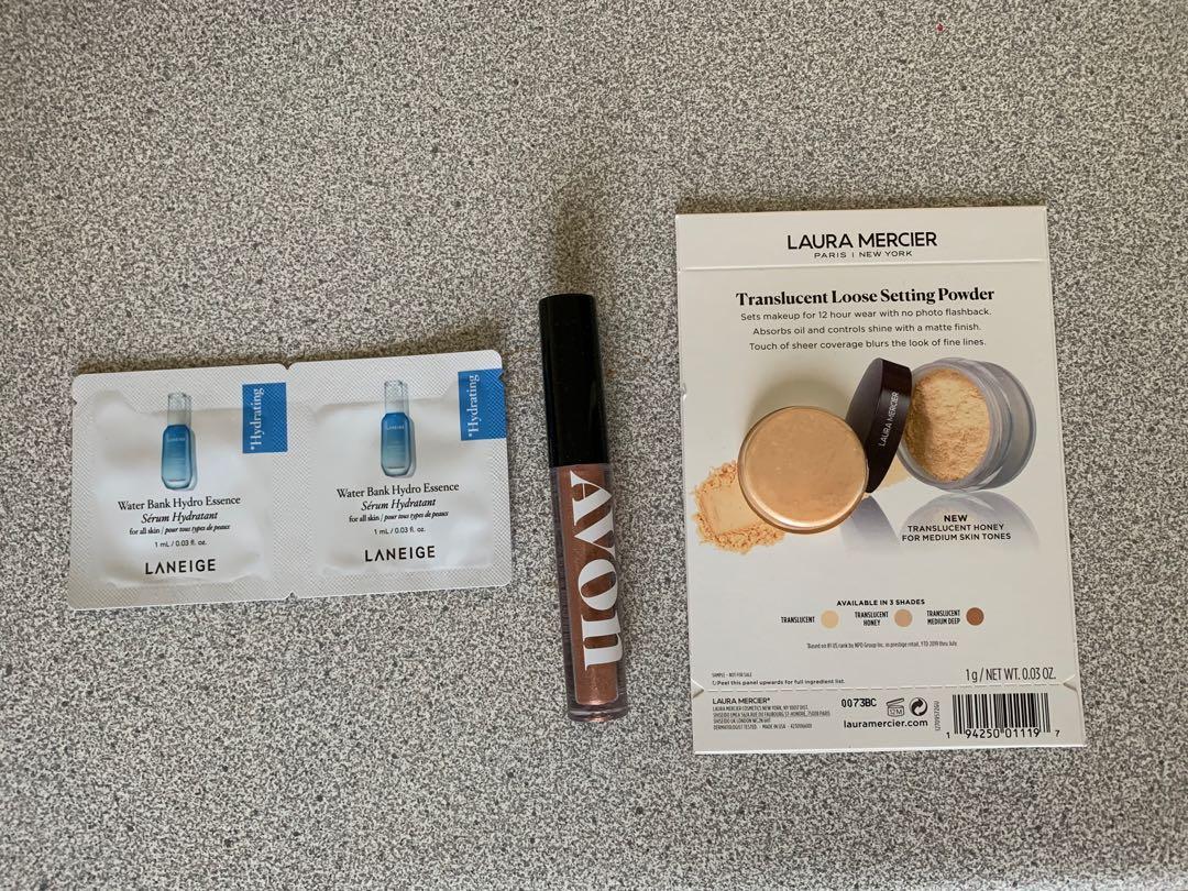 Avon liquid glitter eyeshadow and samples