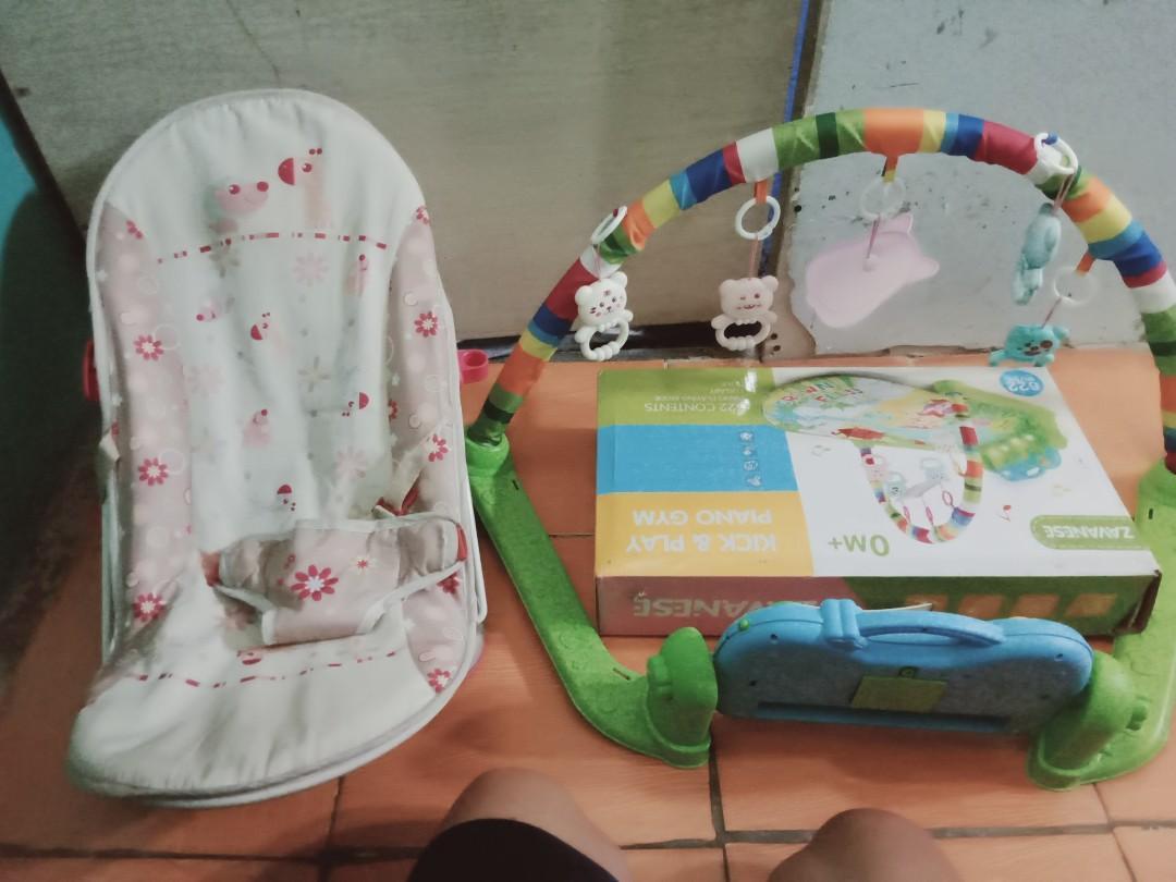 Baby gym piano dan tempat duduk bayi