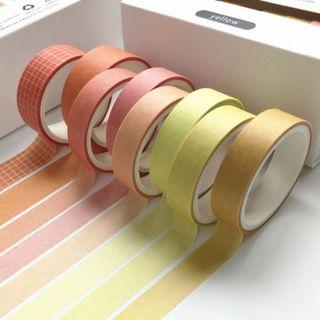 Basic Washi Tape Set in Yellow