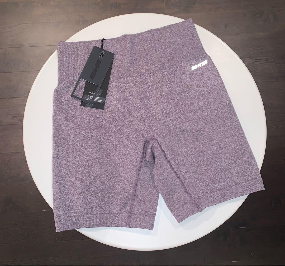 Bo+Tee (Oh Polly) Biker Shorts in Melange Purple (Medium)