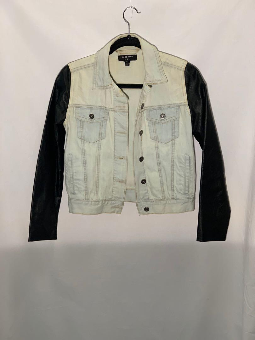 By Corpus (Urban Outfitters) denim/leather jacket - size xs - worn