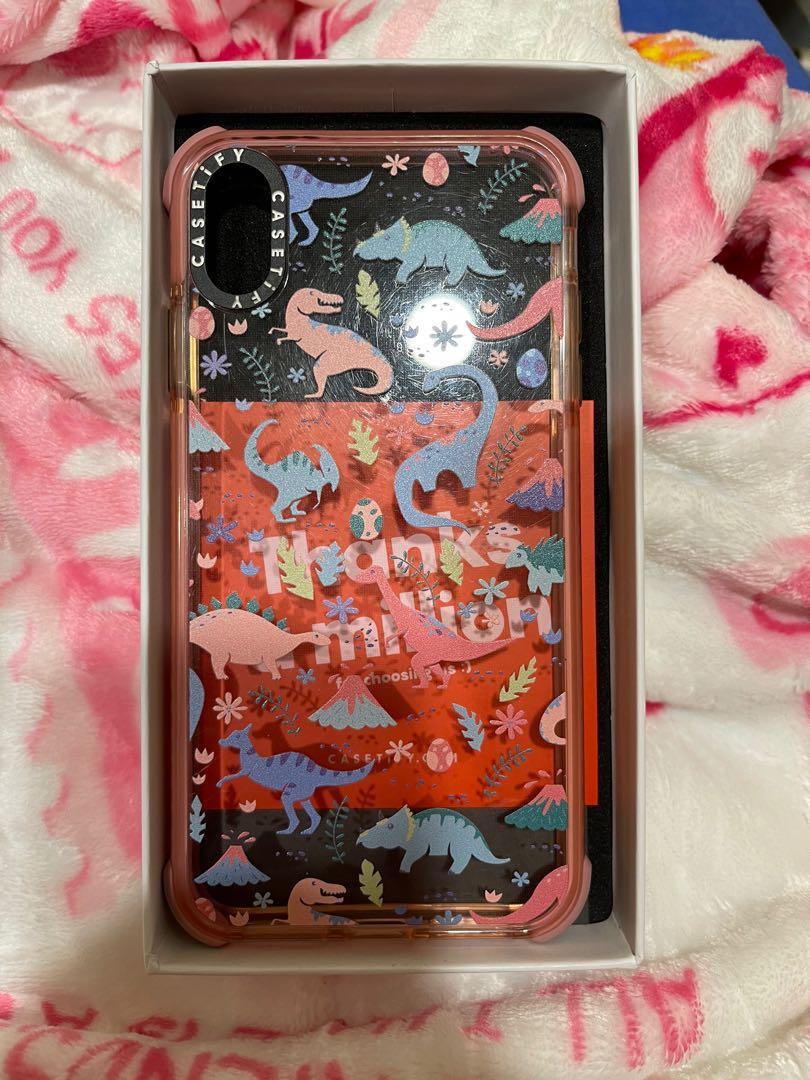 Casetify粉色恐龍手機殼(最防摔系列)