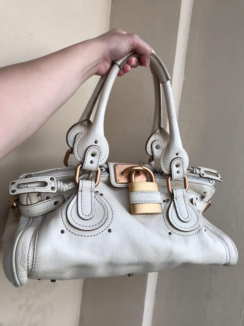 [AUTHENTIC] Chloe Paddington White Bag