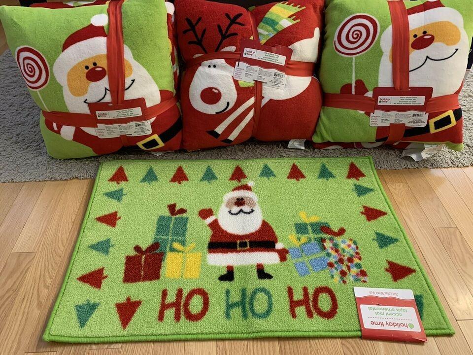 Christmas bundle - 3 cushions + 3 plush throws + 1 accent mat