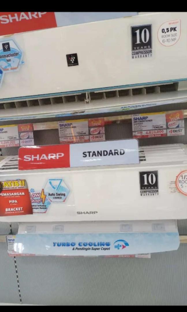 Cicilan AC Sharp AHAP7SSY 3/4PK (Mulai Dp 10%)