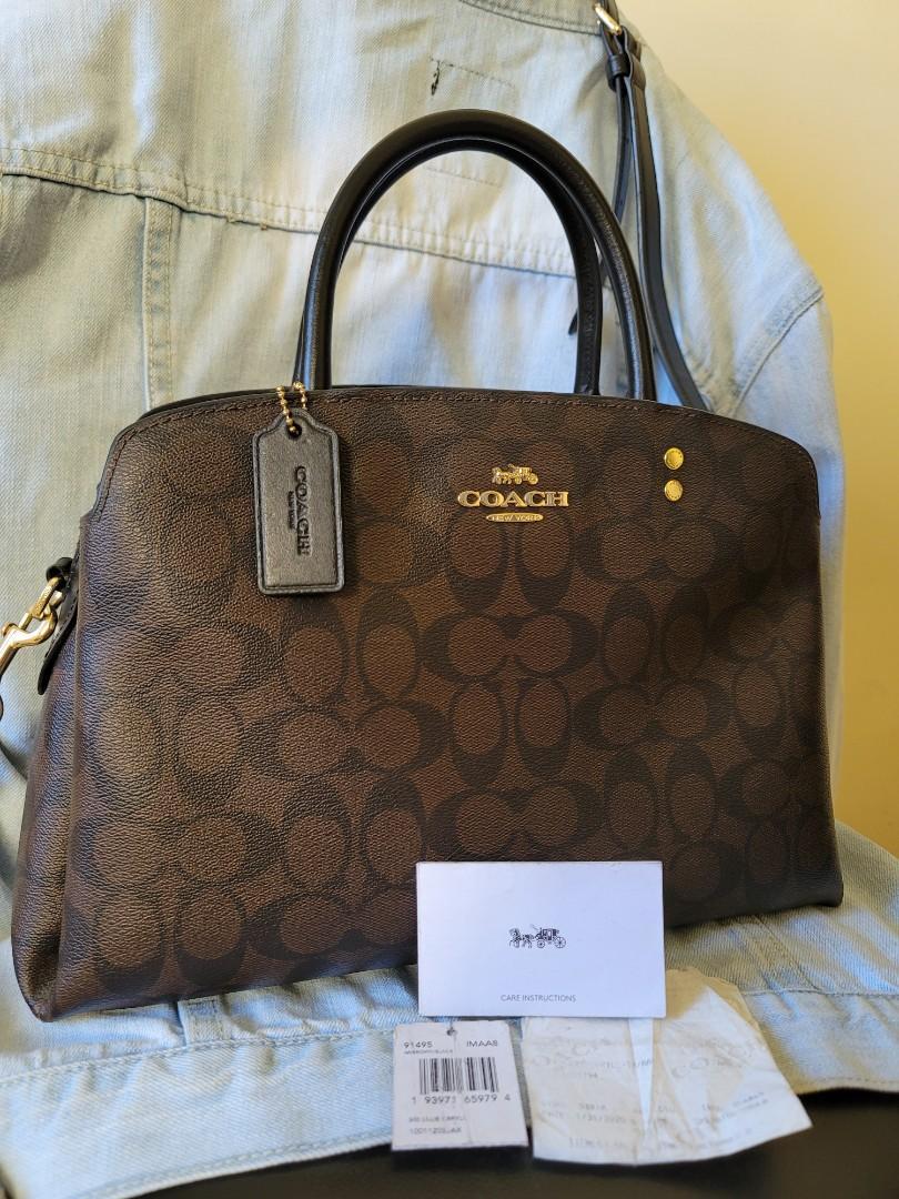 COACH Lillie Caryall Brown/Black Monogram Bag, Luxury, Bags ...