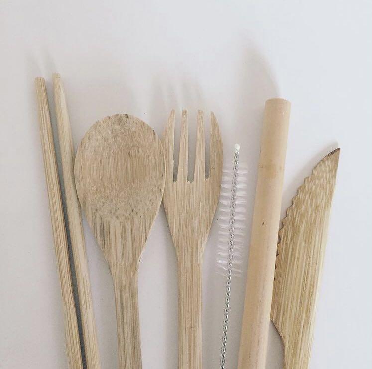 Cutlery Set Dari Bambu