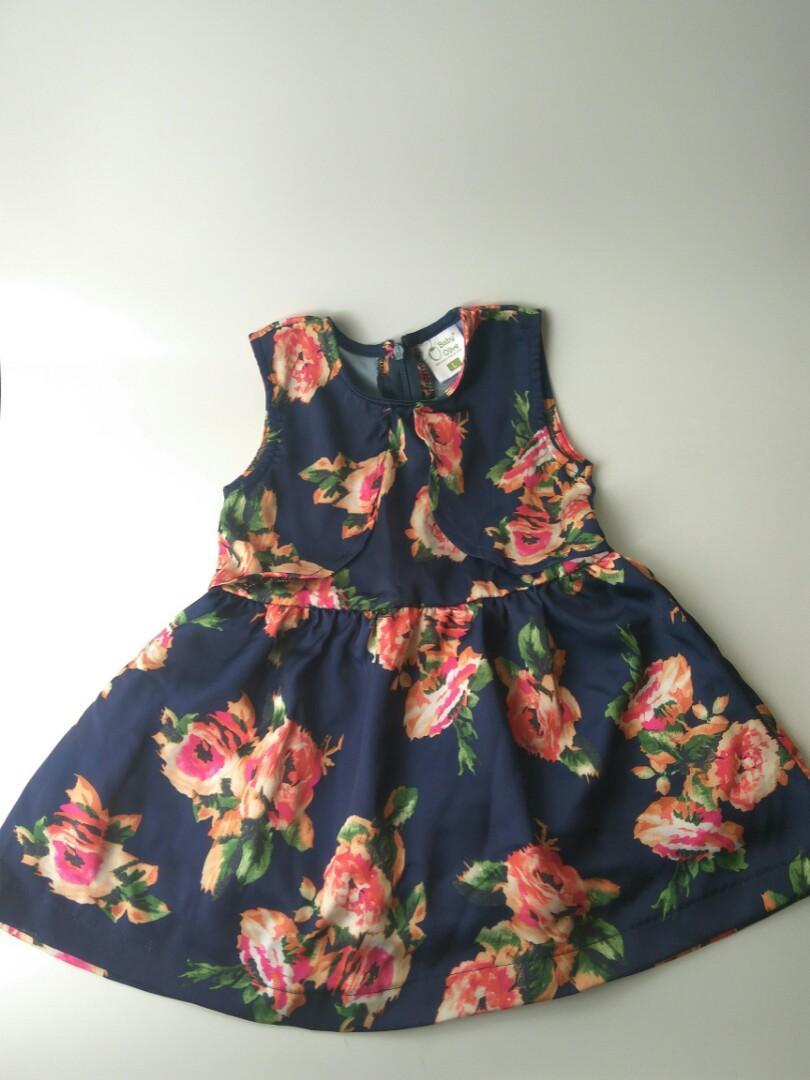 Dress anak kutung bahan satin