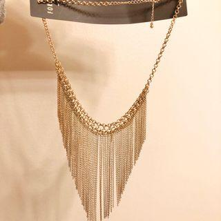 REDUCED F21 Gold Statement Necklace (Free Shipping)