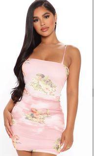 Fashion Nova angel dress Sz small