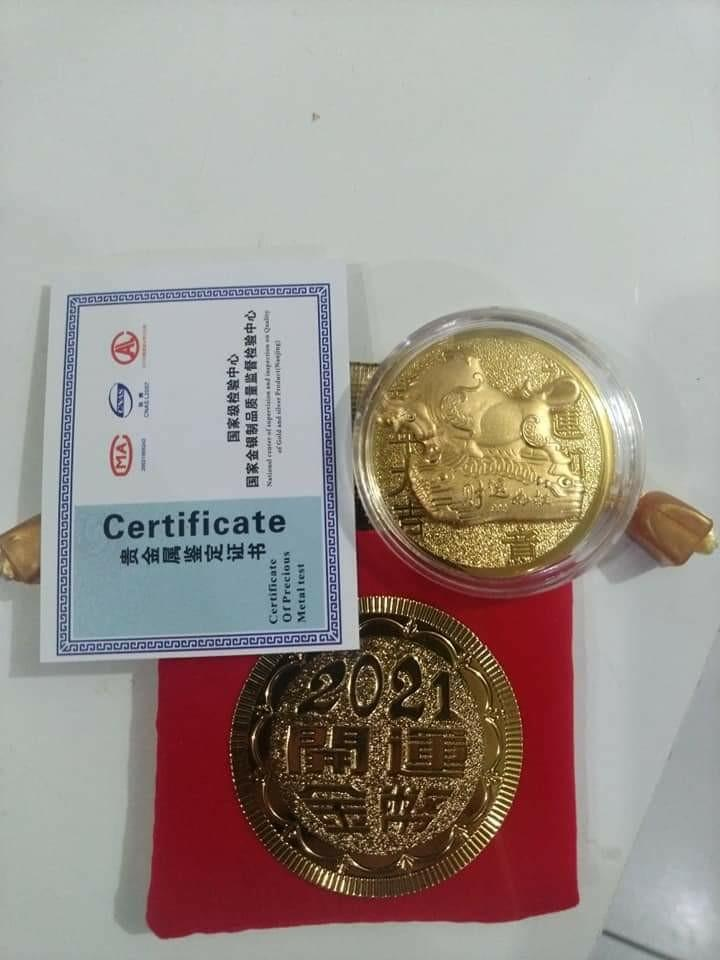 Gold plated lucky coin