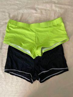 Green and Black Bikini shorts bundle