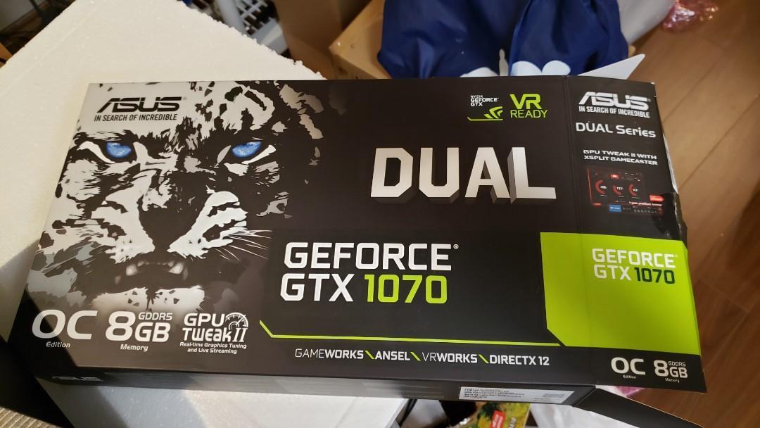 GTX1070 8GB Asus Dual OC GPU