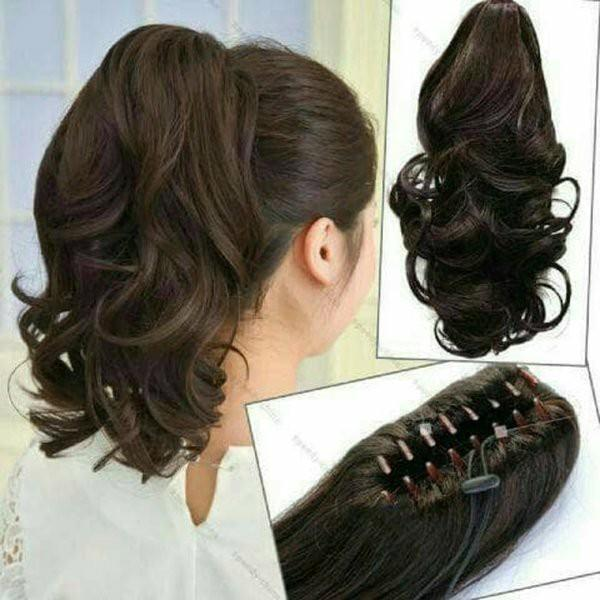 Hair Clip Paling Murah / Wig Bisa di Jepit / Warna Coklat