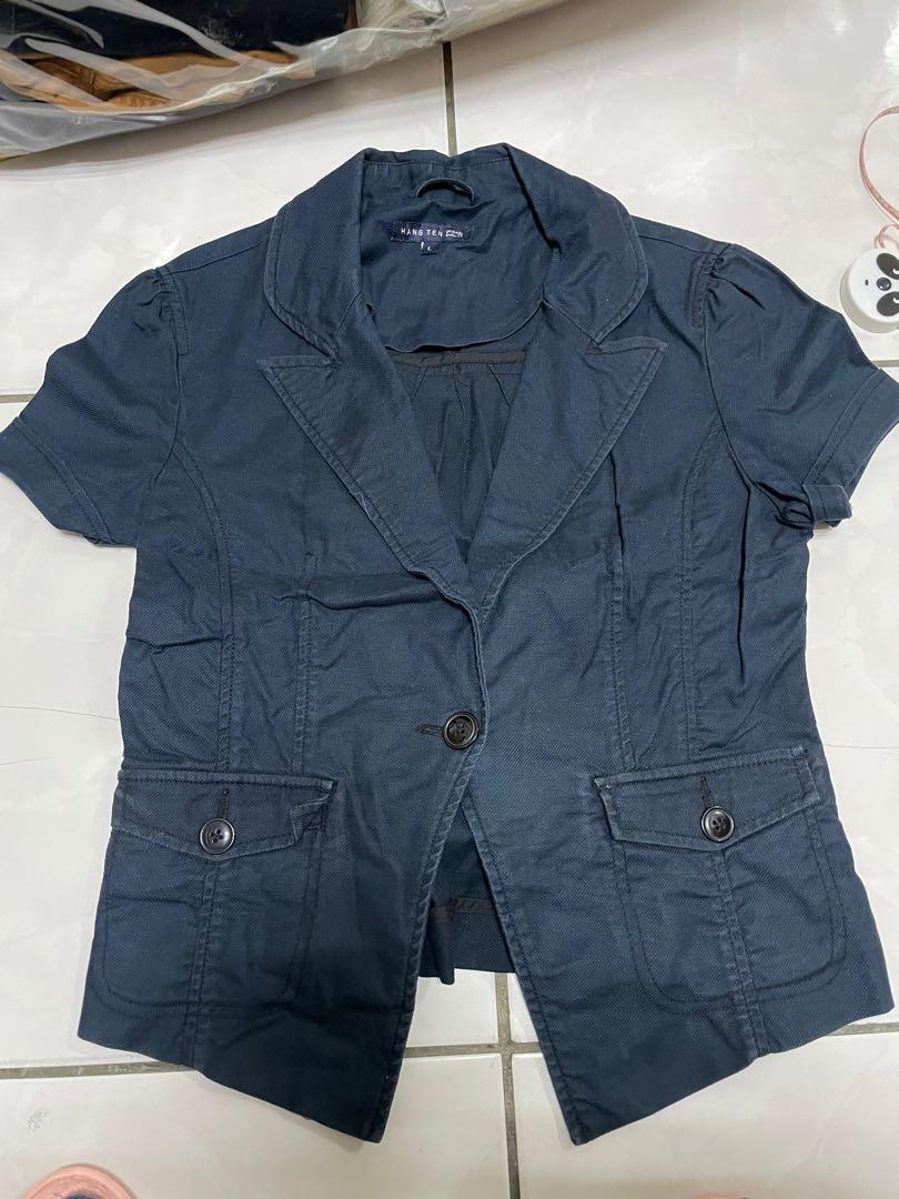 hang ten 西裝外套 短版 短袖