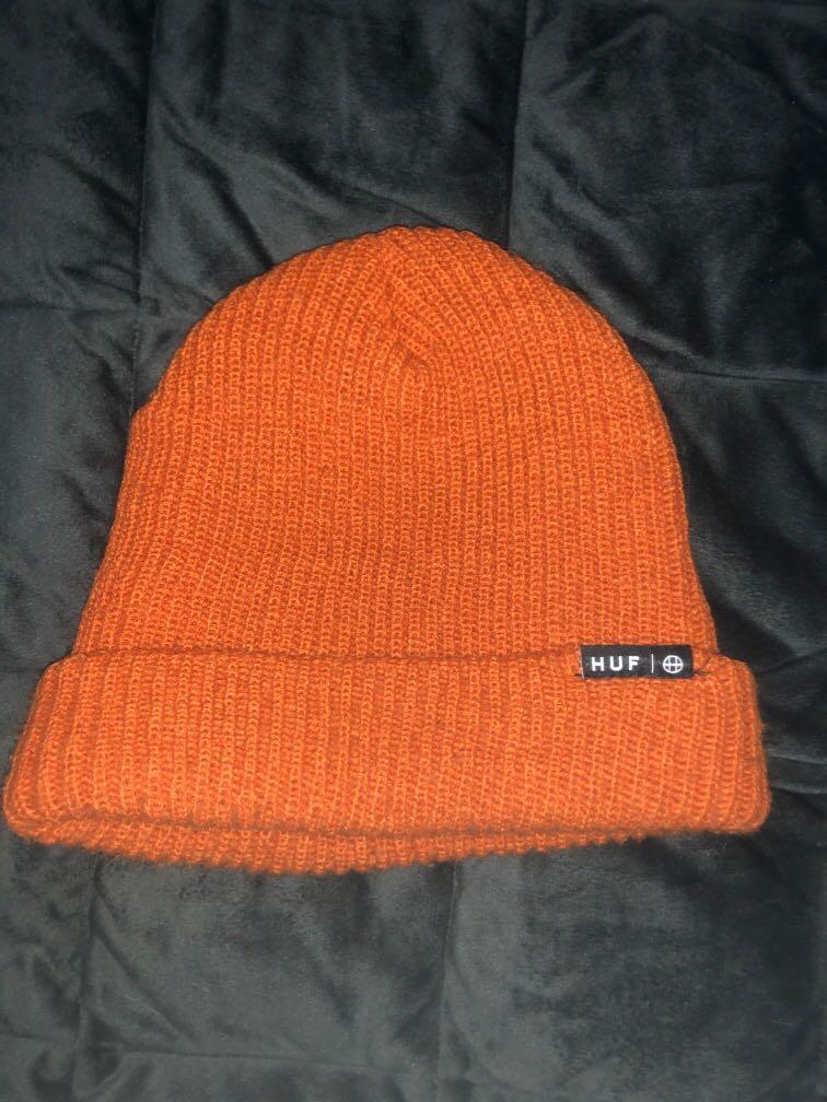 HUF橘色毛帽
