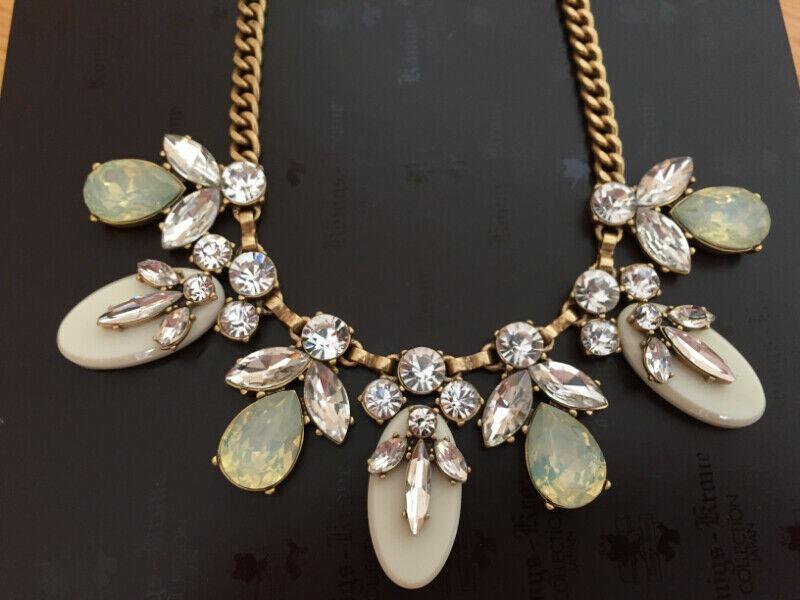 J.Crew Crystal and Stone Necklace