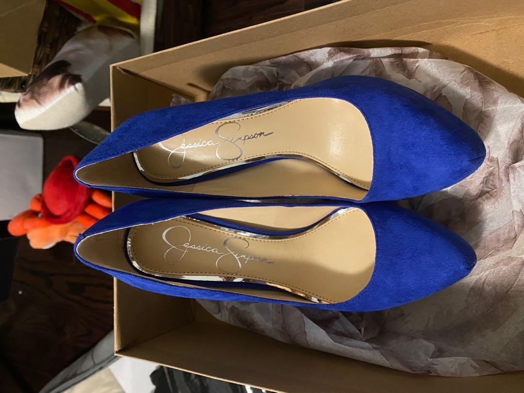 JESSICA SIMPSON Parish Velvet Heels