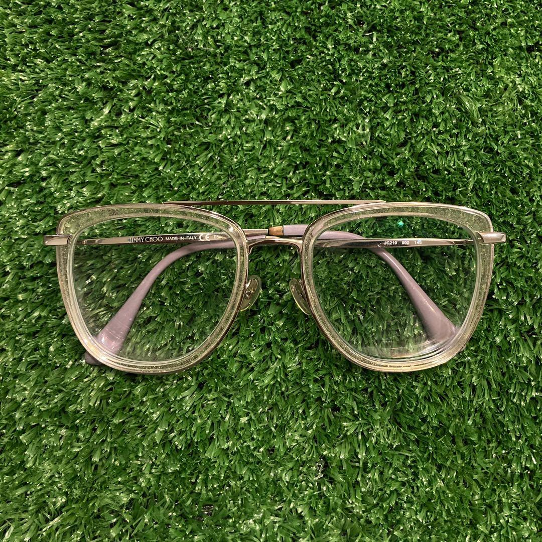 Jimmy Choo Designer Glasses | Silver and Clear Frame