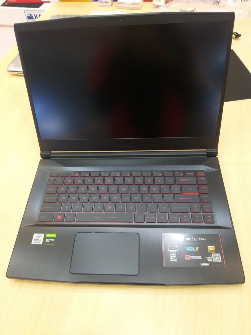 Laptop gaming msi gf65 i7 8gb 512gb