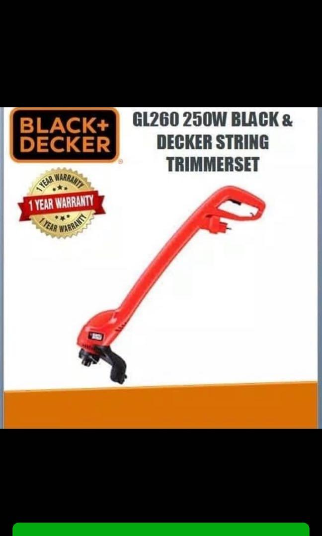 Mesin potong rumput GL260 Black and Decker , string trimmer mechine set