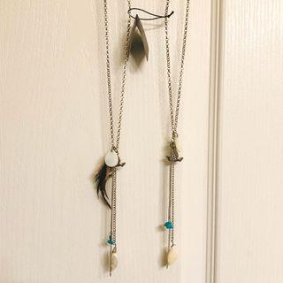 REDUCED (Pair) Long Statement Necklaces (Free Shipping)