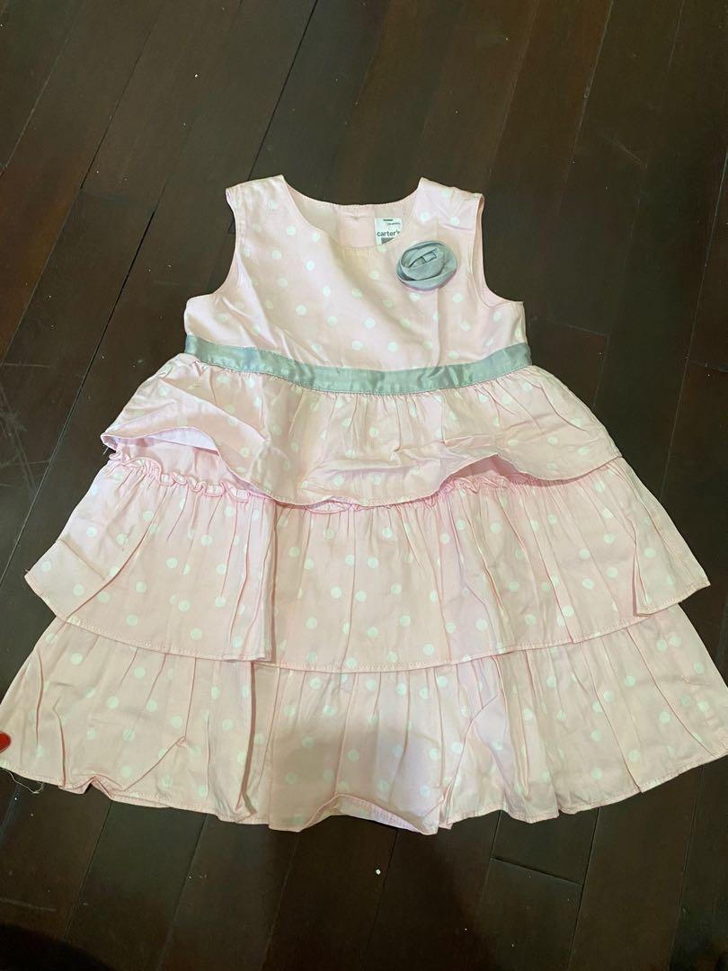 Preloved Carters Pink Dress 18m