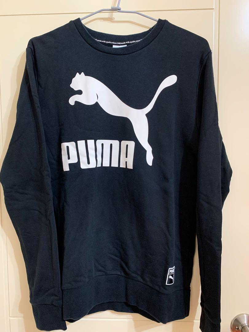 PUMA黑色男運動衫-XL