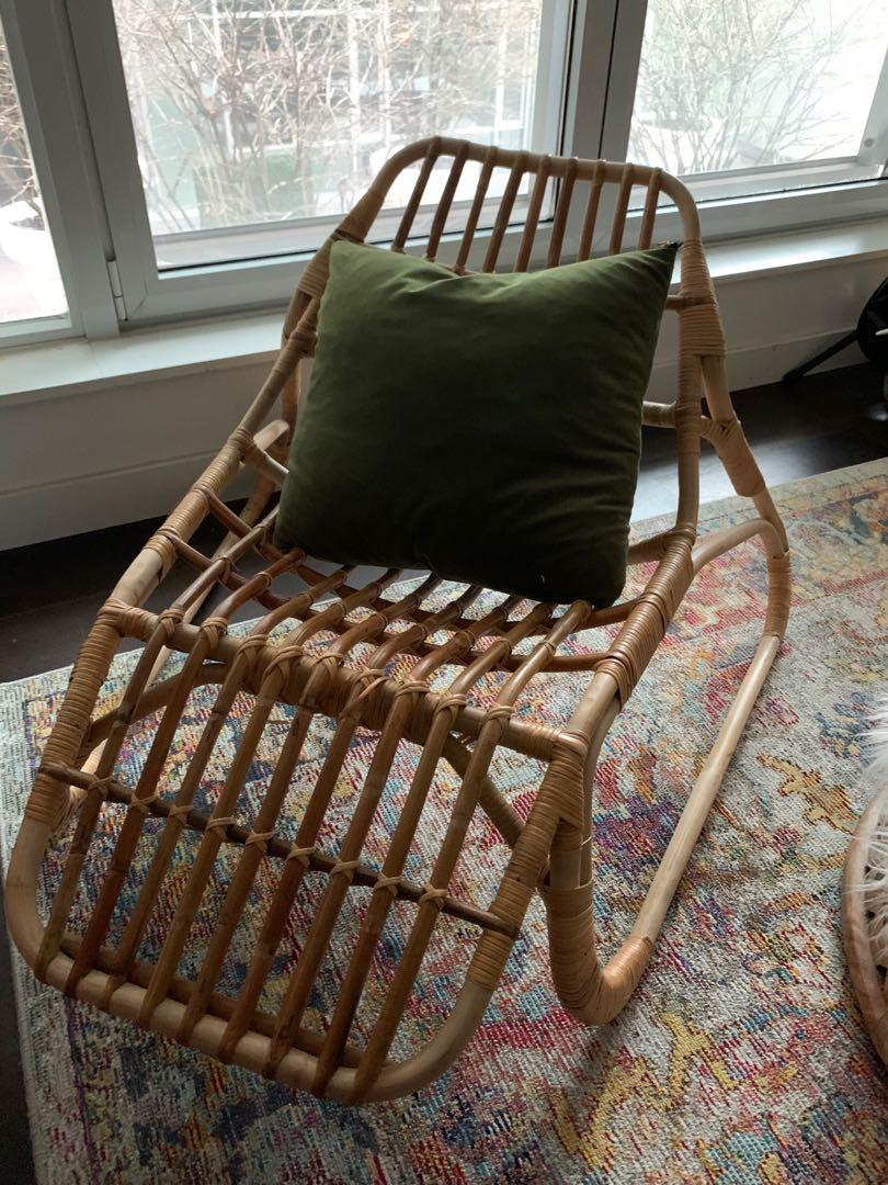 Rattan chair lounger