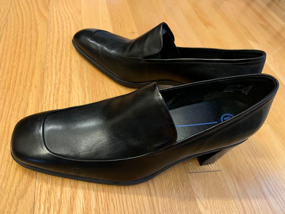 Rockport Women Leather Dress Shoes - Size 9 - Black - New