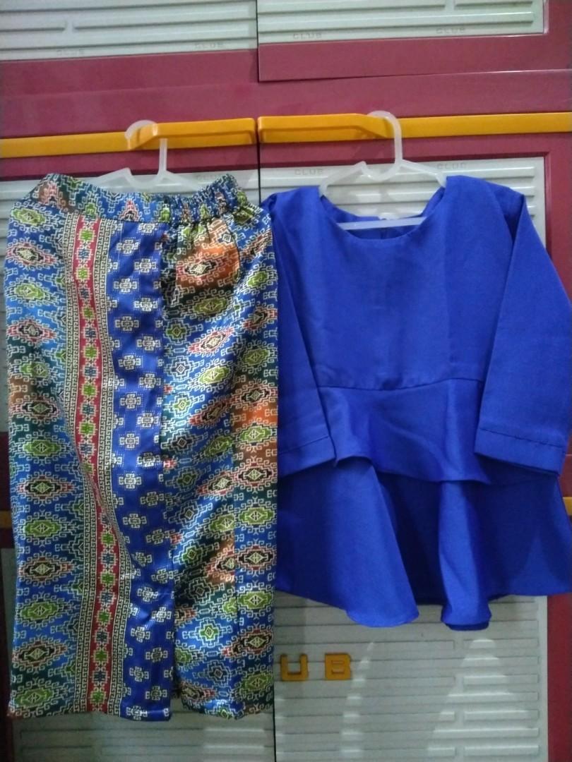 Set Kebaya blouse anak umur 1-3T