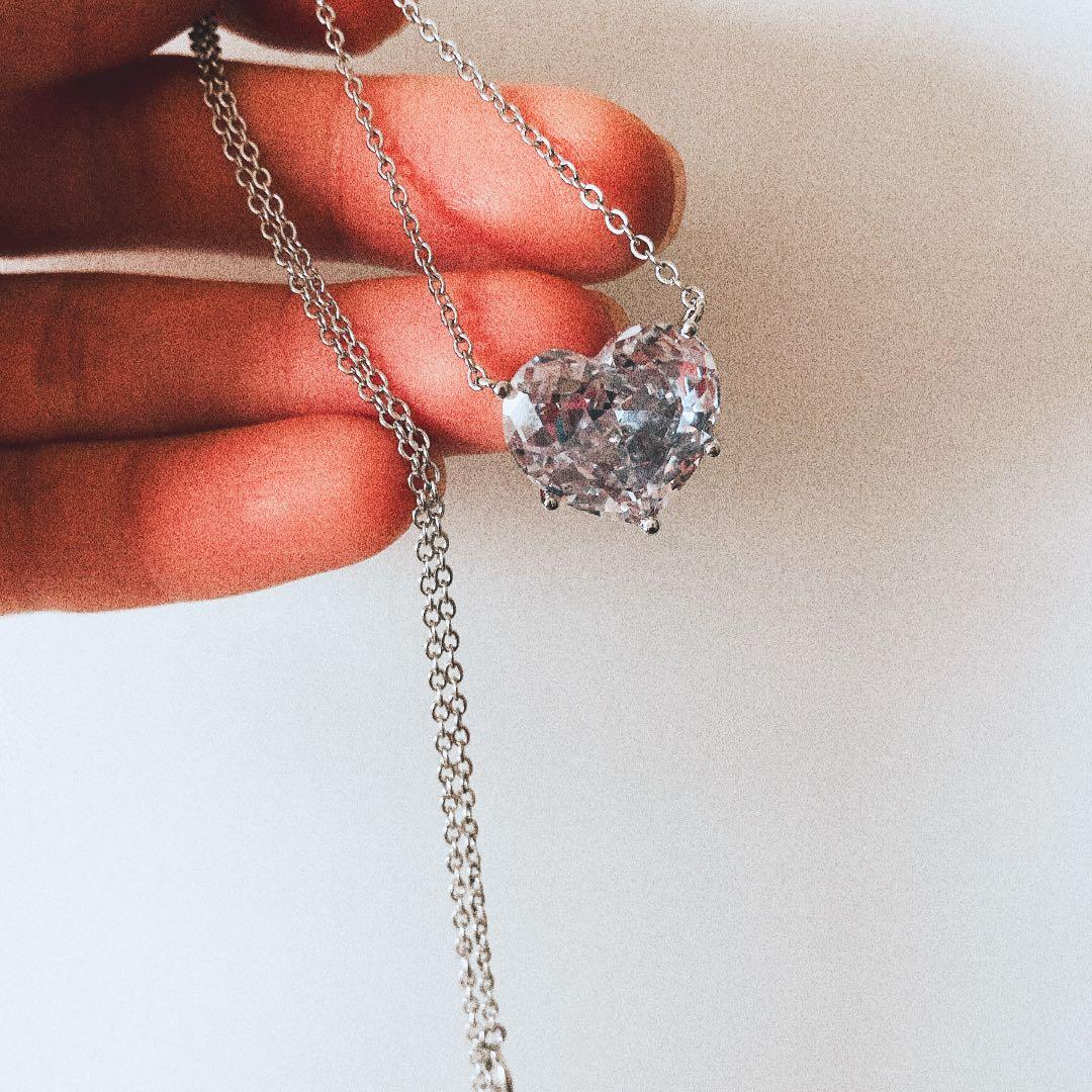 Silver Necklace Heart
