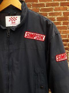 Simpson Racing Navy Bomber Jacket