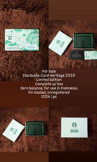 Starbucks Card Indonesia  Heritage Limited Edition 2020