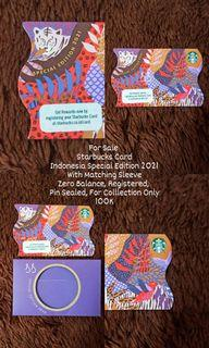 Starbucks Card Indonesia  Limited Edition 2021