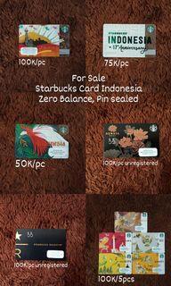 Starbucks Card Indonesia  Limited Edition Folklore Dewata Reserve