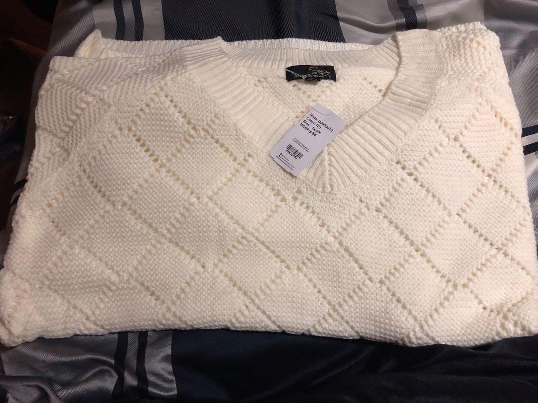 SUZANNE BETRO VNECK SWEATER 1X/2X NWT