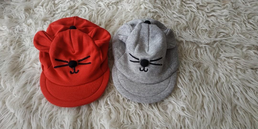 Topi baby karakter kucing