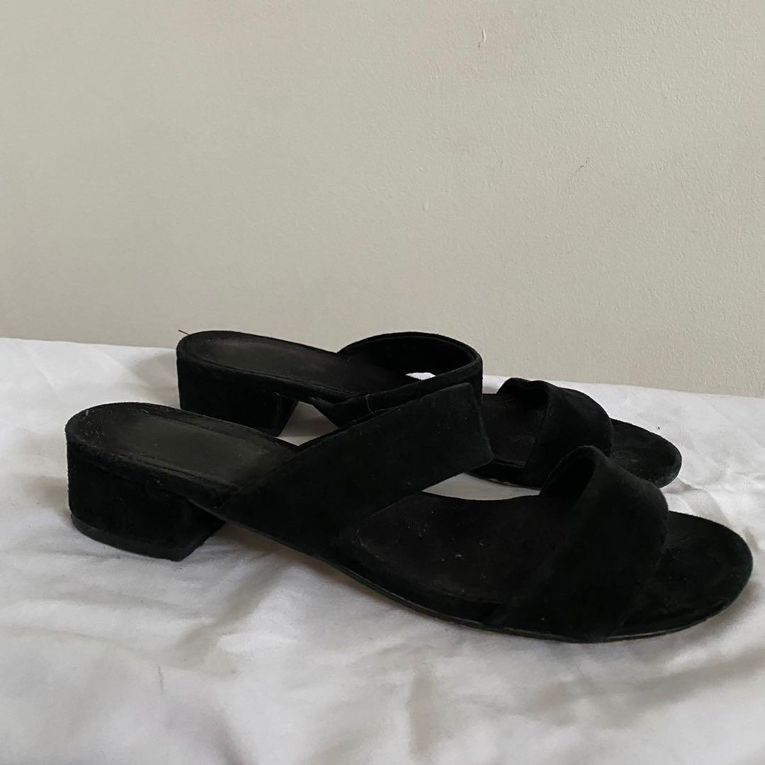 Two Strap Suede Sandals