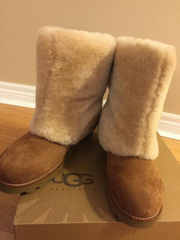 UGG Classic Short Fluff Boot - Women/Size 11- Camel Colour - NEW