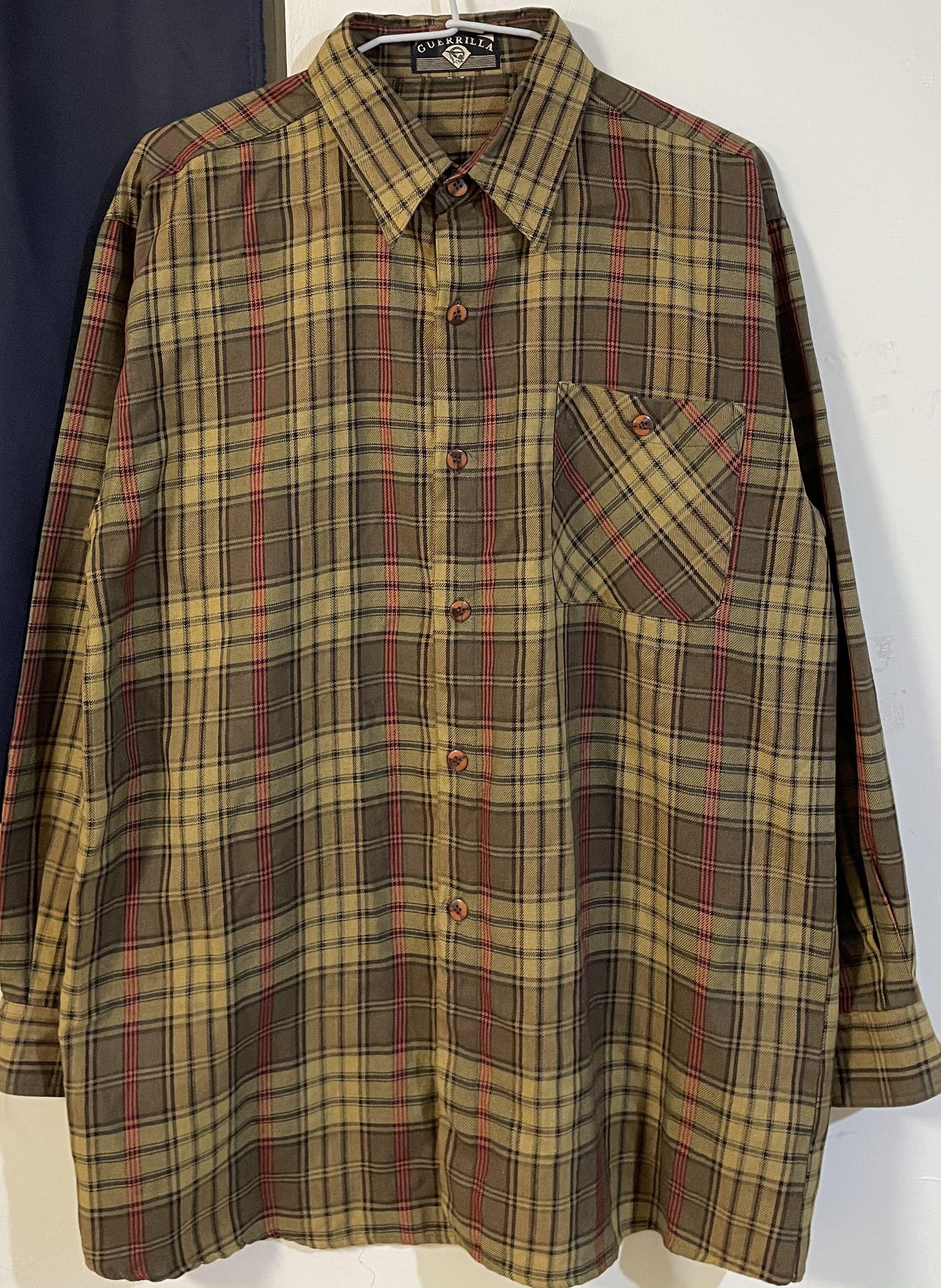 Vintage 古著格紋襯衫👔