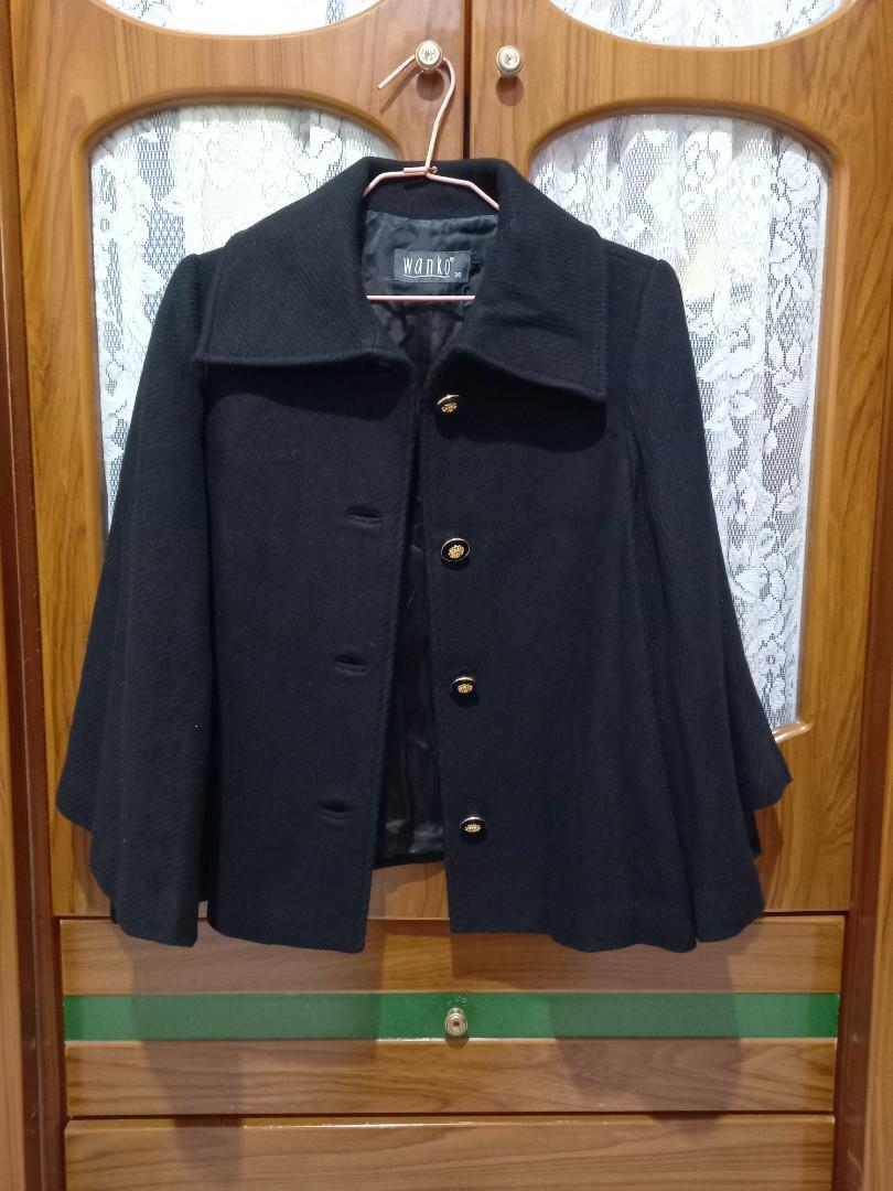 專櫃Wanko毛料短版大衣