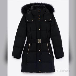 Zara-黑色羽絨外套超難搶-原價4490-S碼