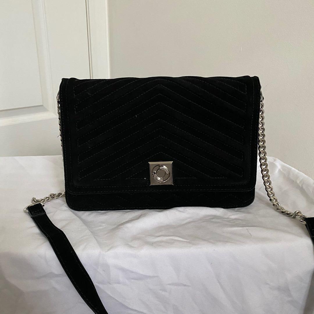 Zara Velvet Crossbody Bag