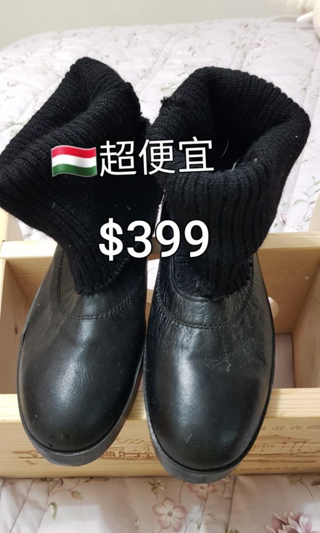 👍🏾超便宜$399全新              🇭🇺義大利短靴、真皮、