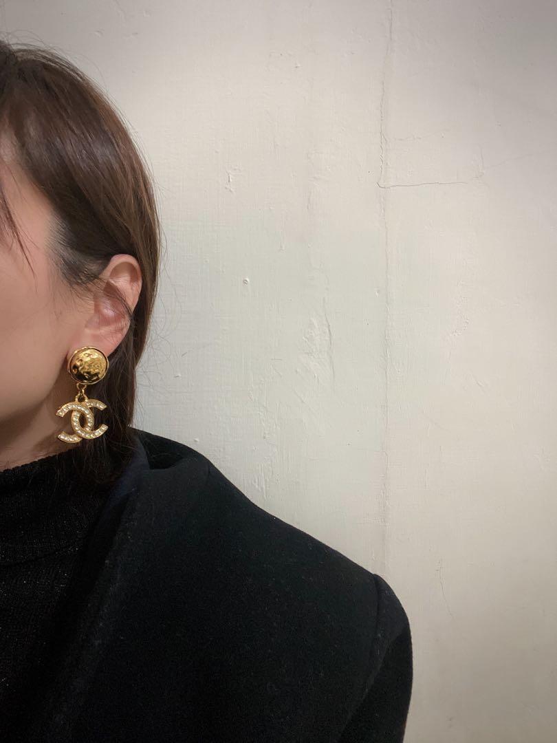 [個人私物]Chanel 香奈兒水鑽CC古董耳環