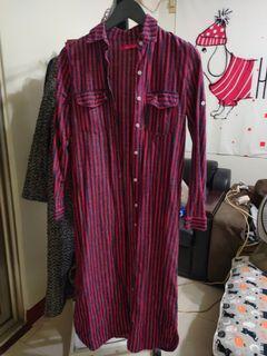 【出清】長版襯衫洋裝