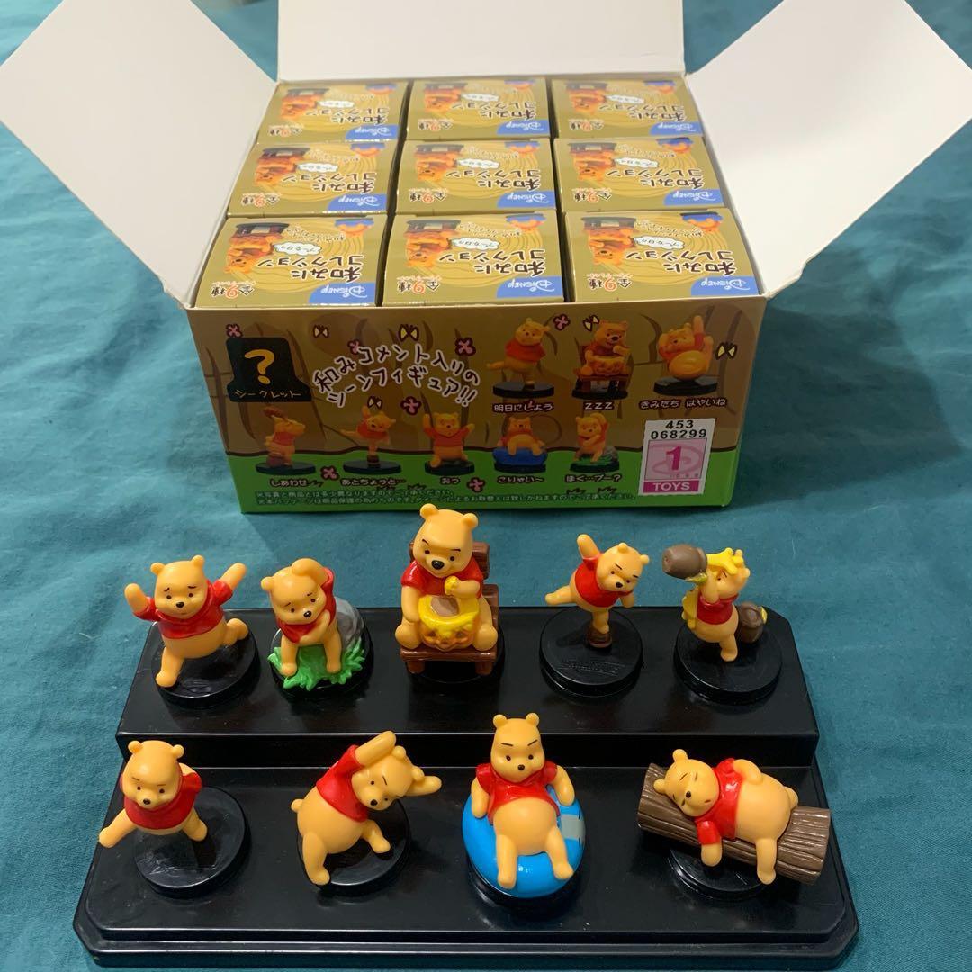 維尼盒玩公仔 共9隻一組不拆賣